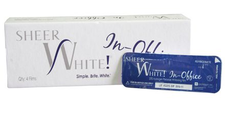 Sheer White! In-Office Teeth Whitening Strips Now Available