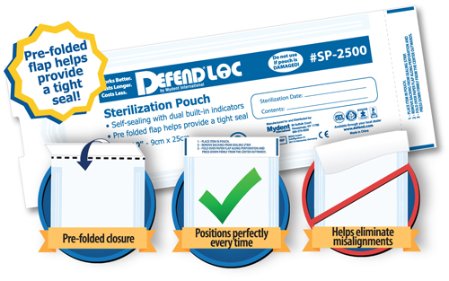 Mydent Introduces DEFENDLOC PRE-FOLDED Sterilization Pouches