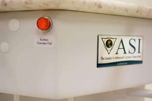 ASI Dental Adds Fill Indication Light to Mobile Dental Carts