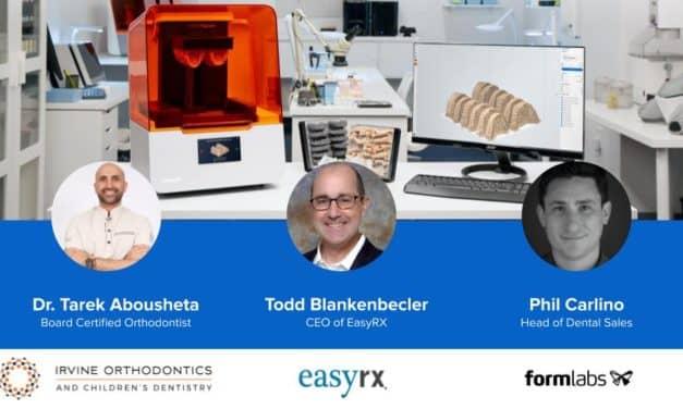Dr Tarek Abousheta to Host 3D Printing Webinar Sponsored by EasyRx and Formlabs