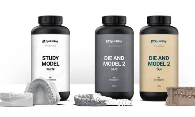 SprintRay Releases Three New 3D Dental Printing Resins