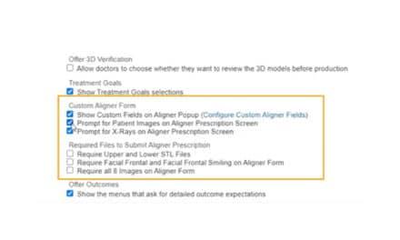 EasyRx Adds Custom Aligner Fields