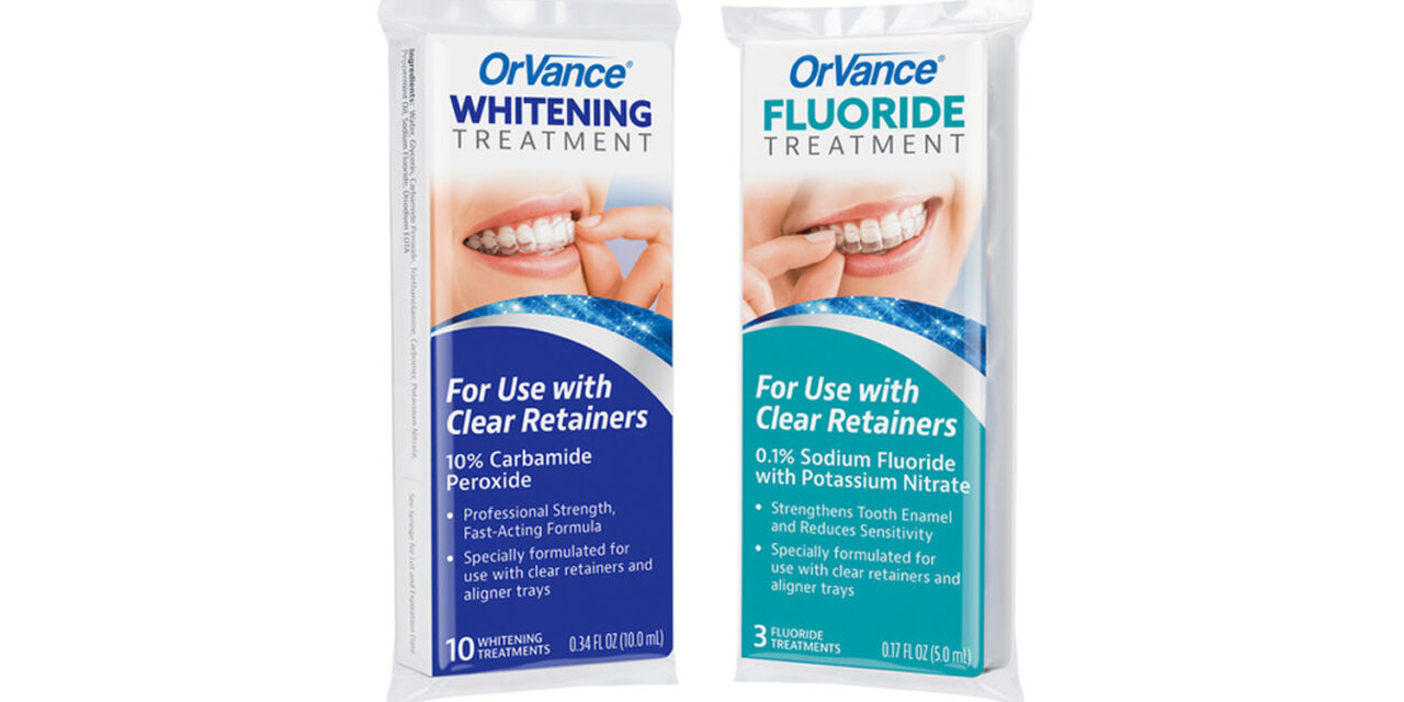 New OrVance Whitening and Fluoride Products Leverage Clear Retainers and Aligner Trays as Delivery Device